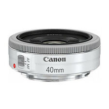 NEW CANON EF 40mm F2.8 STM Pancake White Lens - Bulk Package