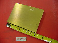 "1/2"" x 3"" C360 BRASS FLAT BAR 4"" long Solid Plate Mill Stock H02 .50"" x 3.0""x 4"""