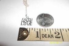 Sterling Silver Faith Hope Love Necklace