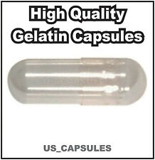 500 NEW EMPTY GELATIN CAPSULES SIZE 0 (Kosher) GEL CAPS PILL COLOR - CLEAR