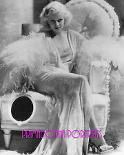 """JEAN HARLOW 8X10 Lab Photo SEXY Enchanting """"DINNER AT EIGHT"""" """"ADRIAN"""" Portrait"""