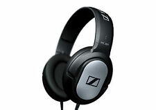 Sennheiser HD201 Closed Dynamic Stereo Headphones Long Lead 3mt gold adapter new