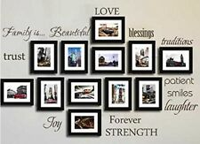 FAMILY WORDS Vinyl Lettering Wall Art Sticker Decals Decor Inspirational DIY