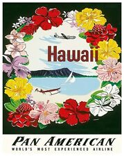 "Hawaii Art Travel Poster Vintage Decor Print 12x16"" XR430"