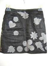 MOSCHINO Cheap and Chic Womens 0 SEXY FUN Black MINI HEART LEAF Vintage Skirt