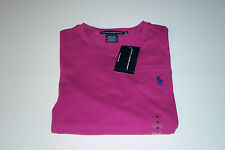 NWT POLO RALPH LAUREN LADIES 3/4 SLEEVE PINK T SHIRT POCKET PONY MEDIUM