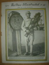 WAR ILLUSTRATED MAG No 214 AUGUST 31st 1945 DE GAULLE VISITS THE RUINS IN BREST