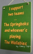 Rugby Sign South Africa Springboks versus Wallabies Football Sign Bar Pub Office