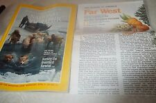 National Geographic April.,1984~The plain people of PA+Hunting Greenland+Map! VG