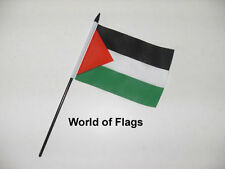 "PALESTINE STARS SMALL HAND WAVING FLAG 6"" x 4"" Palestinian Table Desk Display"