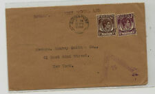 Straits  Settlements  censor cover to  US   1941         MM1114