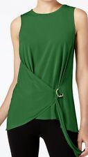 Michael Kors top blouse sz M green