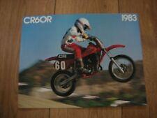 Nos Honda CR 60 RD 1983 folleto de ventas de 4 Páginas Folleto Vintage Elsinor