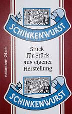 Kunstdarm, Kaliber 55/21, für Schinkenwurst, mit Druck, 25 Stück