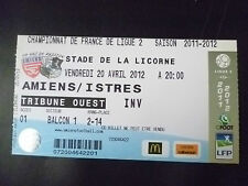 Tickets- 2011/12 France Championship Football League 2-AMIENS v ISTRES, 20 April