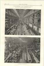 1898 Armstrong Whitworth Elswick Gun Machine Shops