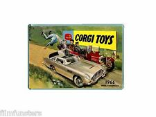 NOSTALGIA  CORGI TOY CATALOGUE 1966 JAMES BOND ASTON MARTIN- JUMBO FRIDGE MAGNET