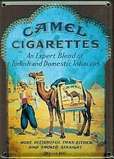 Camel Cigarettes metal postcard / mini sign  110mm x 80mm  (hi)