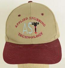 Applied Snubbing Technology AST Oil Gas Oilfield Tan Baseball Cap Hat Adjustable