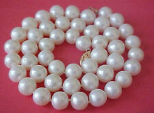 9-10MM AA+ WHITE Freshwater PEARL NECKLACE 18''
