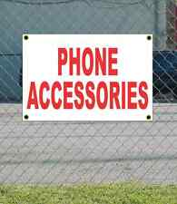 2x3 PHONE ACCESSORIES Red & White Banner Sign NEW Discount Size Price FREE SHIP