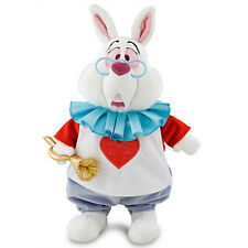 "Disney Store Alice in Wonderland White Rabbit Plush 15"" - NEW"