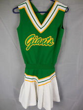 Vintage Cheerleader Outfit Uniform Skirt Tank 1 Pc Green White Giants 32 3 24W