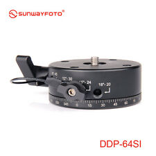 "Sunwayfoto Indexing Rotator DDP-64SI Max Load 8kg UNC 3/8"" thread in bottom"