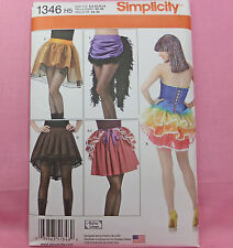 Simplicity 1345 Steampunk Sexy Skirts 5 Looks Costume Sewing Pattern 6-14 NEW!