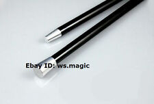 BLACK Aluminum Dancing Cane (2 Parts) Party Show Stage Floating Magic Trick FISM