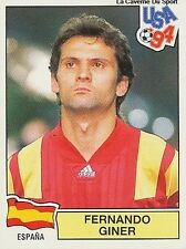 N°154 FERNANDO GINER ESPANA SPAIN PANINI WORLD CUP 1994 STICKER VIGNETTE 94