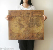 """24"""" 1746s Old World Map Vintage Old Wall Poster Reminiscence Pub Bar Ornament"""