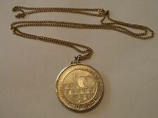 1977 Austria Silver 100 Schilling Coin in Pendant with thin Gold Filled Necklace