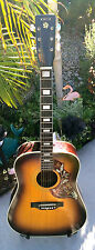 Rare Vintage 1970 Kingston Hummingbird Mod J-2  Gibson Dreadnaught Copy Jumbo Ac