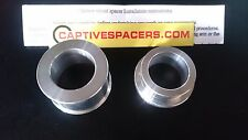 Kawasaki ZX6R 1998 - 1999 Captive wheel spacers. Rear wheel set