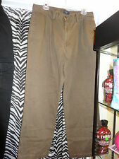 MENS DOCKERS BROWN PLEATED FRONT PANTS   36X30