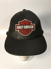 Harley Davidson Youth Faux Leather Hap Cap Velcro Born To Ride