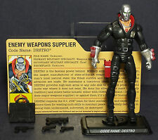 G.I. JOE COBRA HASBRO 25th ANNIVERSARY HASBRO 2007 DESTRO WEAPONS SUPPLIER LOOSE