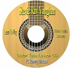 Stevie Ray Vaughan  **GUITAR TABS** Software CD (48 Songs)