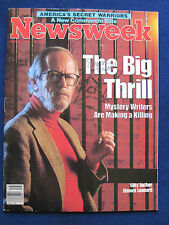 ORIGINAL 1985 NEWSWEEK ISSUE - SIGNED by ELMORE LEONARD @ His Cover Photo