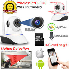 Wireless WiFi HD 720P IP Camera Home Security Night Vision System,32G SD Card