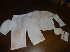 NWT NEW BOUTIQUE BABY BISCOTTI 6M 6 MONTHS FLOWER TOP PANT HEADBAND SET