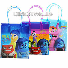 6 Pcs Inside Out Authentic Licensed Reusable Small Party Favor Goodie Gift Bags