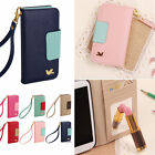 Magnetic Flip PU Wallet Cards Holder Case Cover For Various Phone 6s Samsung not