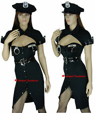 Sergeant Sexy Army Cop Policewoman Police Woman Fancy Dress Costume - M 8-10-12