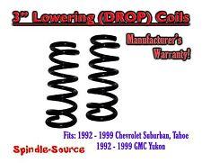 """1992 - 1999 Suburban Yukon Tahoe 3"""" FRONT Lowering Drop Coils Springs Kit 92-99"""
