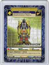 Digimon Wargreymon Bo-148 Gold Text Print Card Bandai NM Near Mint Never Played