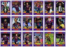 FC Barcelona European Champions League winners 2015 football trading cards