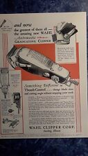 1932 Vintage Barbershop Andis Automatic Graduating Clipper Color Sign Ad