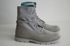 NEW Timberland Girls Fold Down Boots - Sleet Gray / Blue Floral - Size 7US (X67)